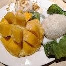 Mango Sticky Rice with Coconut Ice Cream($8.50)😘🥭🍚