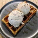 Waffle with 2 scoop($10.70)