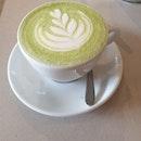 My favourite matcha latte back near my home!