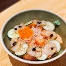 Aburi Scallop Salmon Don $17 Nett