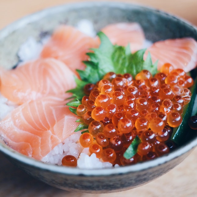 Salmon Ikura Oyako Don [$18.80++]