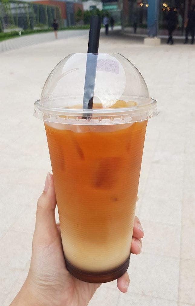 Iced Gula Melaka Milk Tea ($2.20)