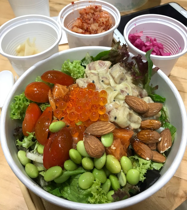 Large Poke Bowl (19.90) but Entertainer 1-for-1 to the rescue