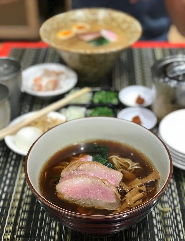 Hybrid Duck Broth Ramen, Rich Soup & Clear Soup ($14.90++)