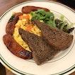 Smoked Salmon Scramble ($23) + Grilled Chorizo ($8)