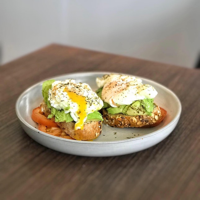 Avocado Egg on Toast (available on menu after CNY)
