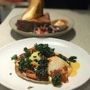 Organic Eggs Blinis ($22++)