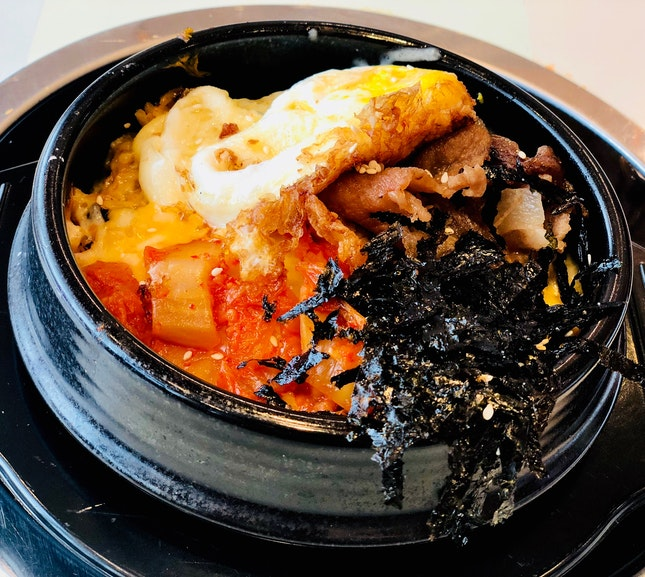 Cheese Kimchi Pork Fried Rice