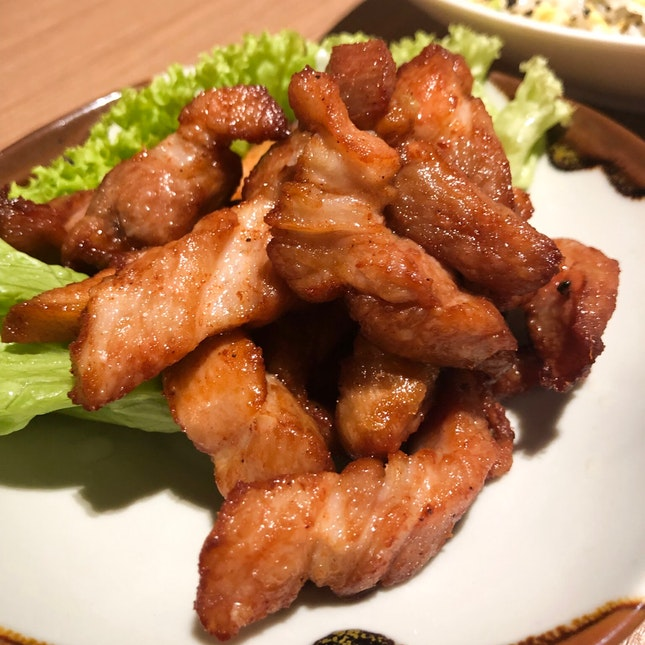 Deep fried pork belly in fermented bean curd sauce $10.80