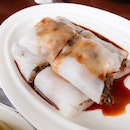 Steamed Rice Roll With BBQ Pork and Preserved Vegetables $6.80