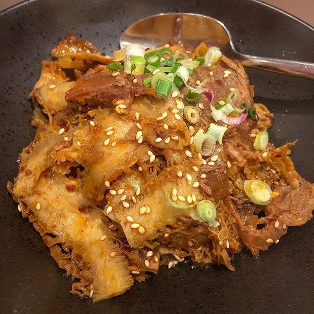 Sliced Beef and Tripe in Chilli Sauce (夫妻肺片).