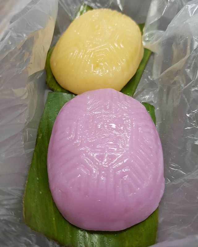 Corn and yam ang ku kueh!