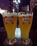 Kronenbourg 1664 blanc (HH: $10 all day long) 🍻 .