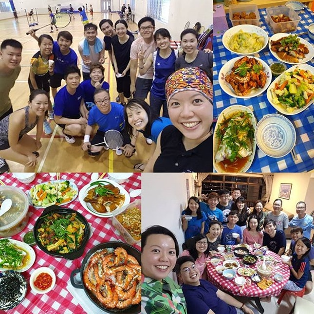 Sunday's 🏸 games and food!