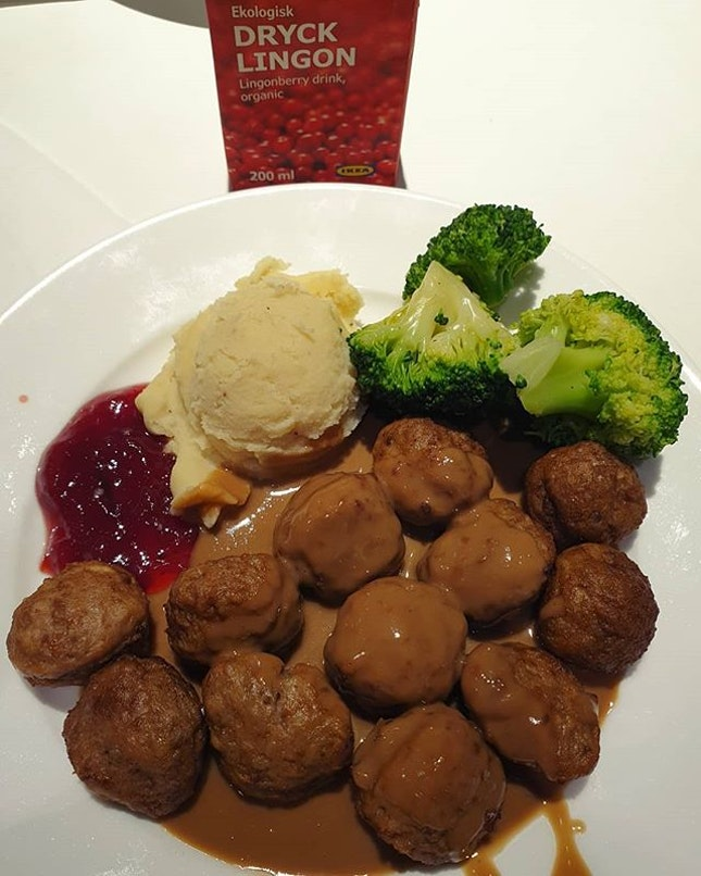 Swedish meatballs ($8.50) & Lingonberry organic drink ($0.80)!