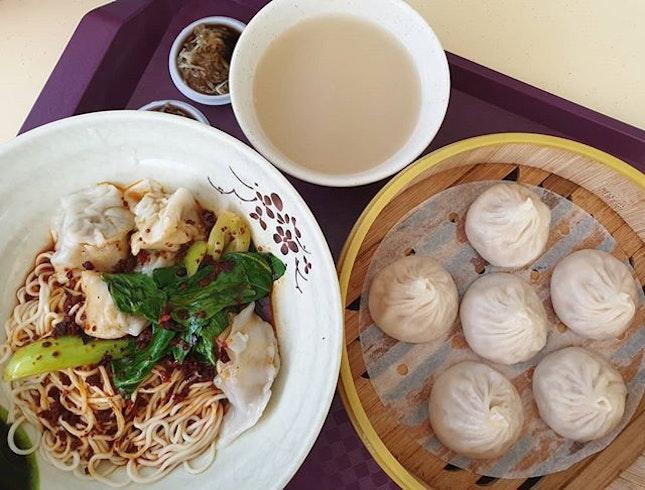 Pork dumpling noodles ($4) & Xiao long bao ($4.50)!