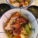 Char siew and roasted pork noodles ($9.80++ each)!