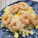 Egg fried rice with shrimps ($6.50)!