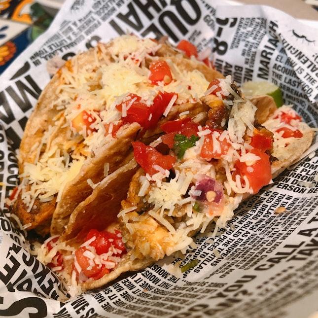 Grilled Chicken, Fish & Steak Hard Tacos