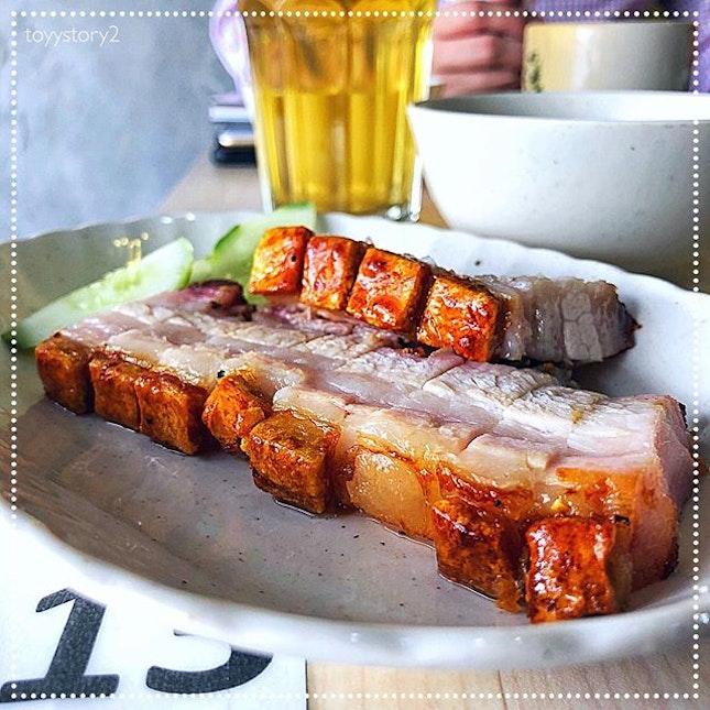 [Boon Signature Roast Pork] Crispy Pork Belly, RM11 / S$3.70.
