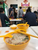 Mixed Fish Soup (Thick Noodle) $6