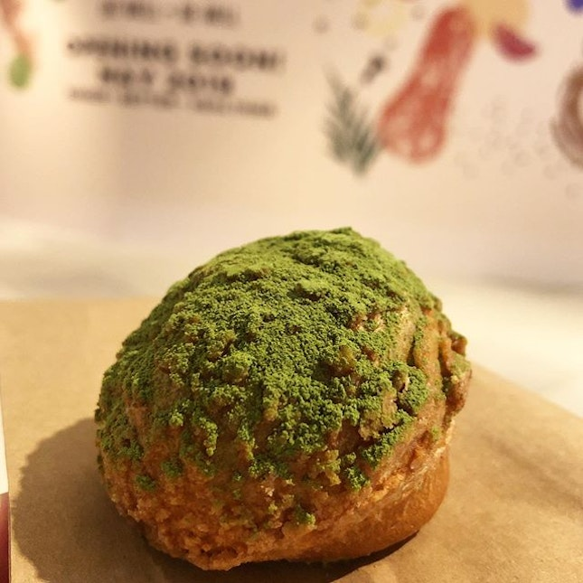 [Matcha Mini Choux-$2]  One of my all time favourite treat 💕✨ Small in size, but delivers a lethal dose of matcha-needed happiness😝 There really isn't match(a) I can nitpick about in this pastry.