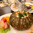 Steamed Seafood In Pumpkin