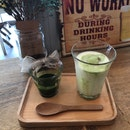 Cold Japanese Matcha Latte ($8)