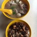 猪杂汤和卤肉饭