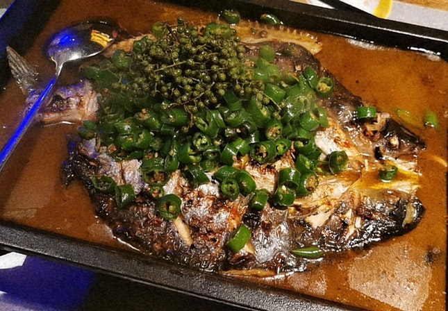 Fish With Green Chili Peppers