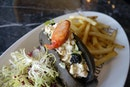 Lobster Roll On Charcoal Bun