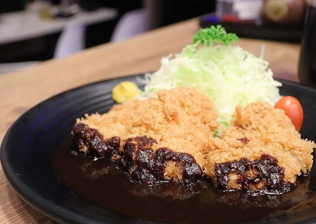 If you're a sweet side person, try this one: -Nagoya Miso Fillet- 3 crunchy pork fillet dipped in the black miso sauce.