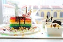 Always happy everytime having pretty food, it's good for eyes and soul ❤️ This is 'Rainbow Fantasy Cake'.