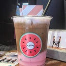 Strawberry Latte - - [$7.00]  The not so secret item will definitely appeal to non-coffee drinkers, as the strawberry taste is quite strong in this one.