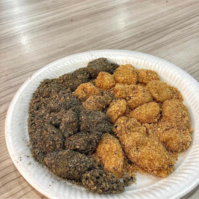 👉Peanut & Black Sesame Muah Chee👈