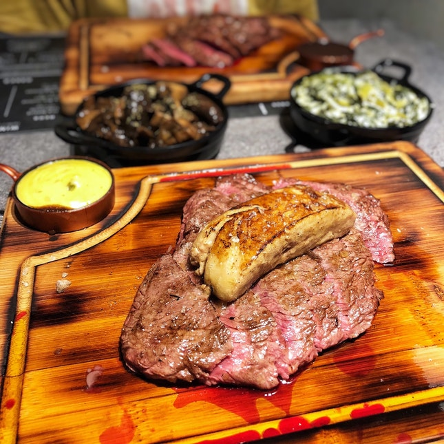 👉The Feather Blade Steak + Foie Gras👈