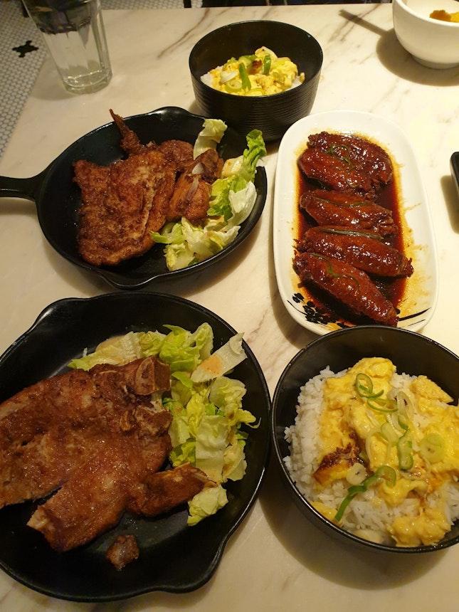 Pork Chop Omelette Rice