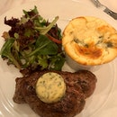 Entrecôte Steak With Roquefort Soufflé