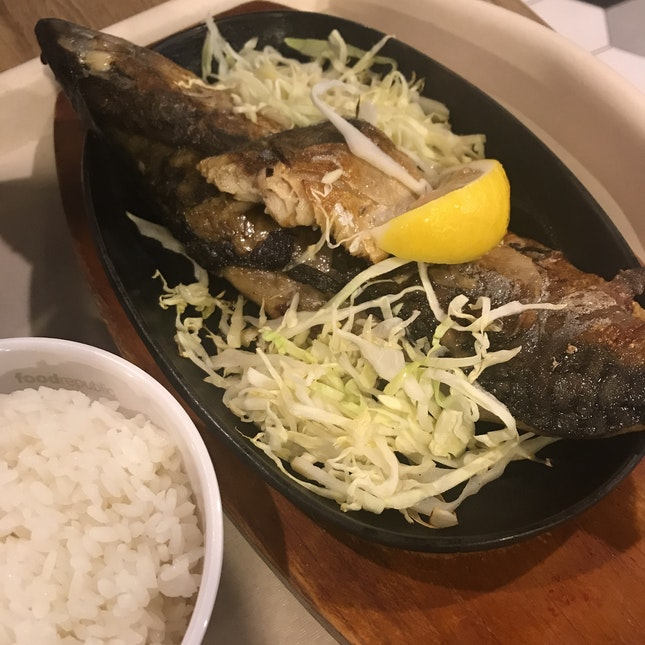 Saba Fish With Rice