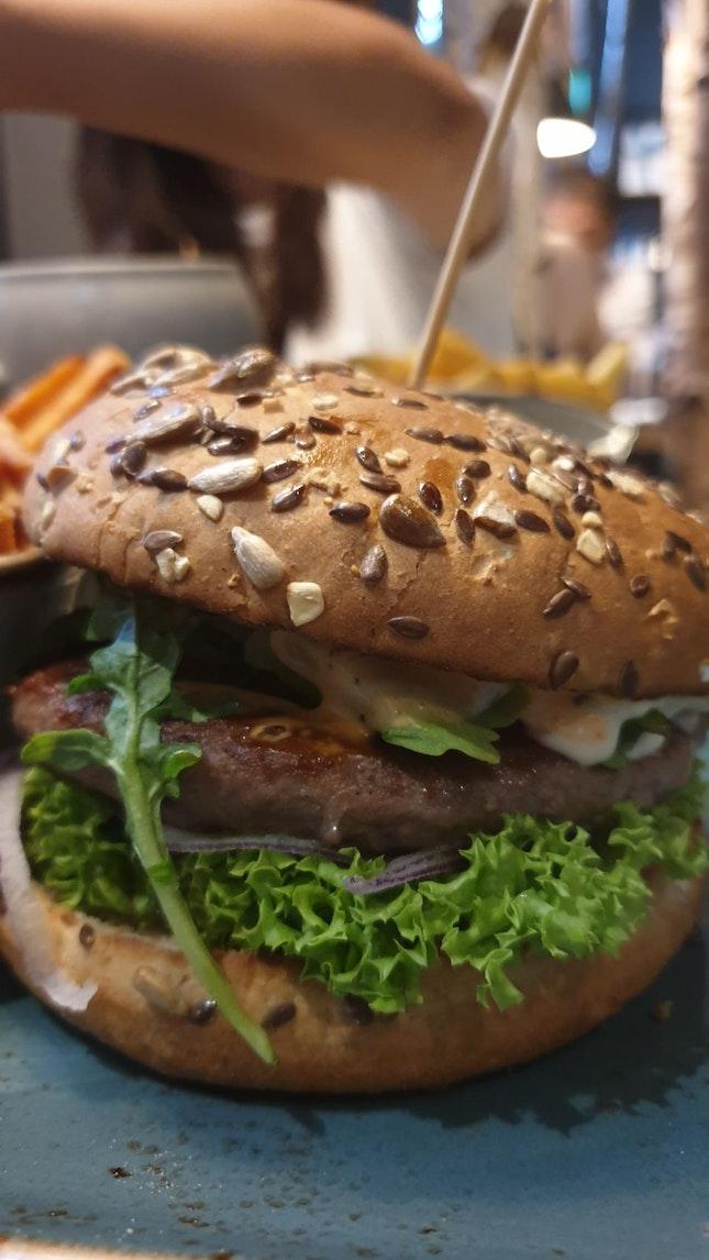 Mushroom Beef Burger $18