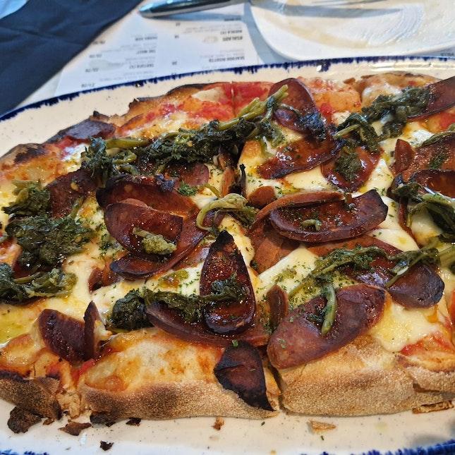 Chorizo Pizza with fresh mozzarella $21++