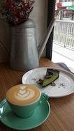 Latte and Matcha Tart