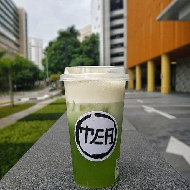 Tea Empire SG*Matcha Green Tea w 奶盖 ~ $5.0🍵🍵🍵Tasted similar to Genmaicha, do not stir nor shake when drink!