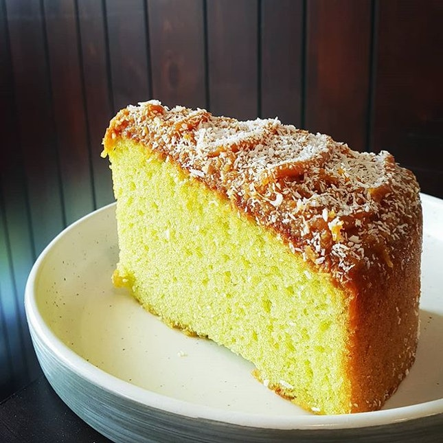 This GULA melaka pandan cake just drives me GILA (mad)!