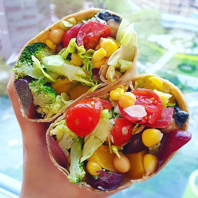 WRAPPING up the week with a Saladstop WRAP!