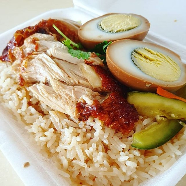 Definitely not CHICKENing out on this packet of Hainanese CHICKEN rice!