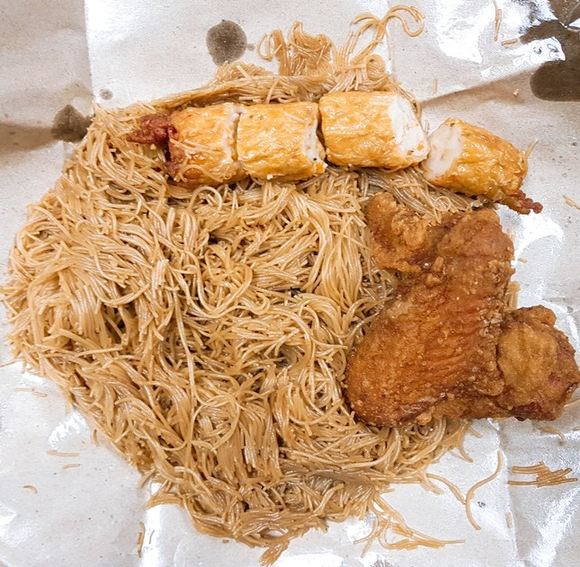 Economical Bee Hoon With Chicken Wing