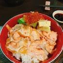 Salmon Zukushi Donburi ($19.80++)