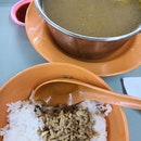 Lunch With Salted Vege Duck Soup