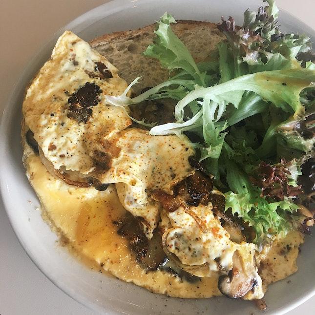 Mushroom Omelette Toast (RM16)